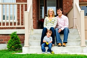 Wilber Real Estate Family on Front Steps